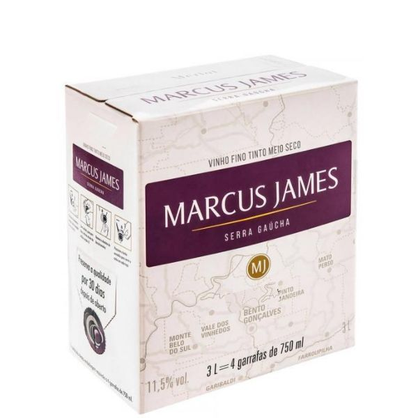 Marcus James Cabernet Sauvignon 3Lt Bag In Box Tinto